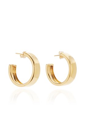 Modernist Gold-Plated Vermeil Hoop Earrings by AGMES | Moda Operandi