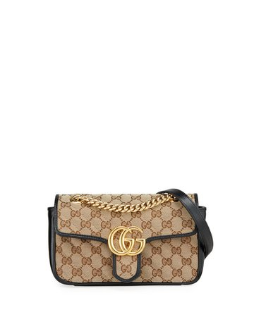 Gucci GG Marmont 2.0 Mini Original GG Canvas Shoulder Bag | Neiman Marcus