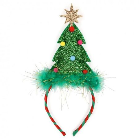 Christmas tree festive headband