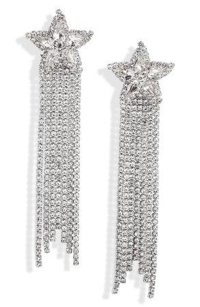 CRISTABELLE Star Fringe Drop Earrings | Nordstrom