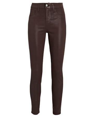L'Agence Margot Coated Skinny Jeans | INTERMIX®