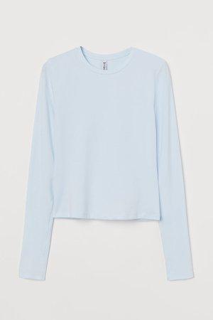 Long-sleeved Top - Blue