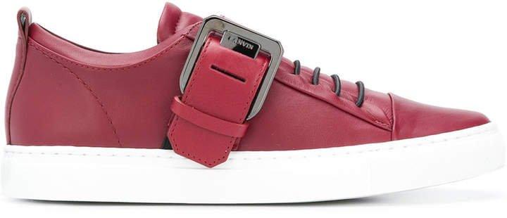 buckled low top sneakers