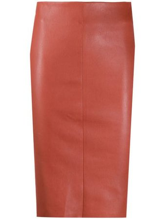 Drome Fitted Leather Skirt - Farfetch
