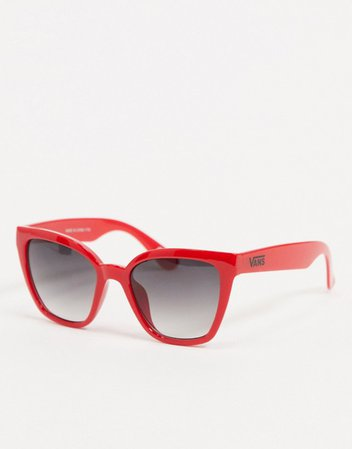 Vans Hip Cat Sunglasses in red | ASOS