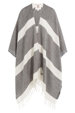 Raj Stripe Wool Shawl Scarf Gr. One Size