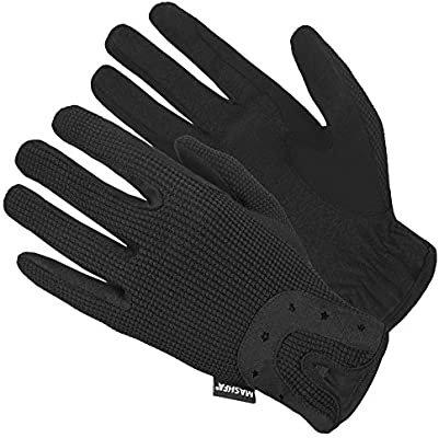 Amazon.com : Ladies Women Horse Riding Gloves Dressage Winter Work Gardening Black Leather Driving Running Cycling Knit Horseback Gloves Leather Equestrian Mitts 1 YEAR WARRANTY!!! : Sports & Outdoors