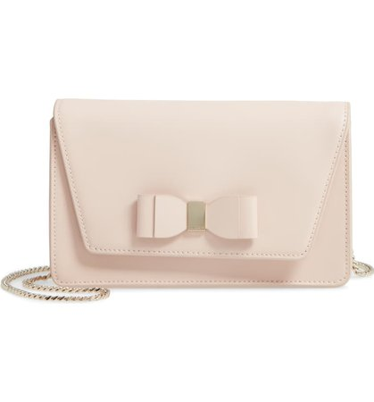 Ted Baker London Keeiira Bow Leather Evening Bag | Nordstrom