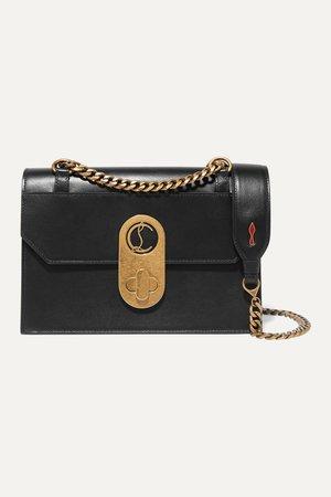 Black Elisa small leather shoulder bag | Christian Louboutin | NET-A-PORTER