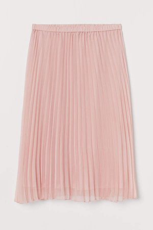 H&M+ Pleated Skirt - Pink