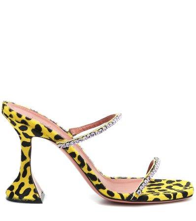 Exclusive To Mytheresa – Gilda Embellished Calf Hair Sandals - Amina Muaddi | Mytheresa