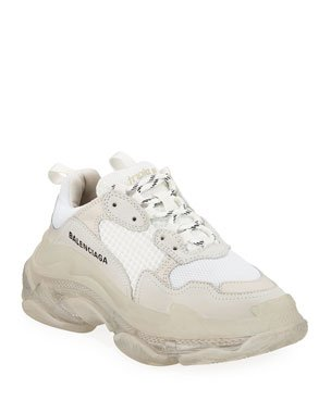 Balenciaga Triple S Clear-Sole Trainer Sneakers | Neiman Marcus