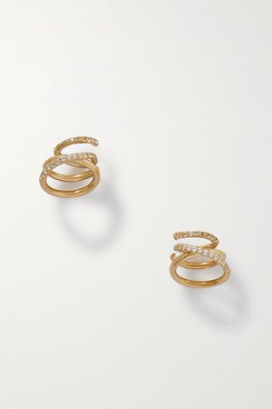 Gold Flow gold vermeil topaz earrings | Completedworks | NET-A-PORTER