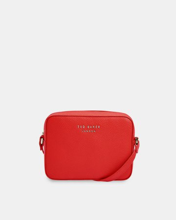 Soft leather camera bag - Red | Bags | Ted Baker