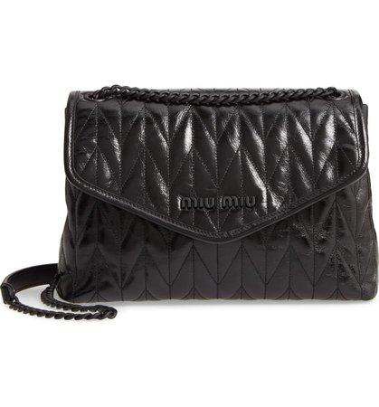 Miu Miu Matelassé Quilted Leather Shoulder Bag | Nordstrom
