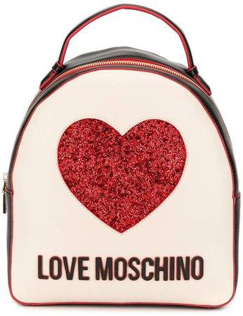 glittered heart backpack