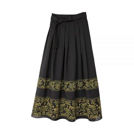 [LEESLE X KARD] Daeran Maxi Wrap Around Skirt [Black] - Leesle