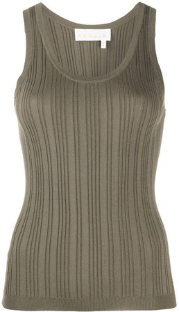 Remain scoop-neck ribbed tank top