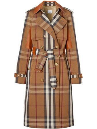 Burberry Belted Check Trench Coat - Farfetch