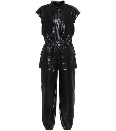 Norma Kamali - Faux-leather jumpsuit | Mytheresa