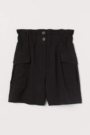 Paper-bag Shorts - Black