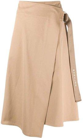 buckle fastening asymmetric skirt