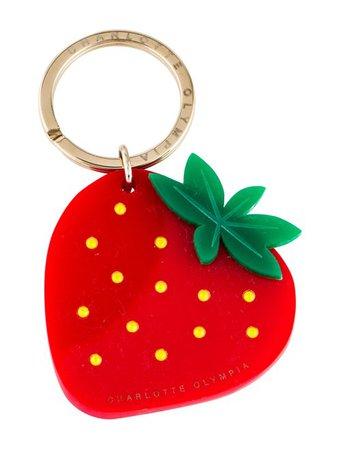 Charlotte Olympia Strawberry Swarovski Keychain - Accessories - CIO27008   The RealReal