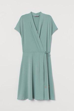 Wrap Dress - Turquoise - Ladies | H&M AU