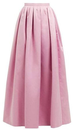 High Rise Duchess Satin Maxi Skirt - Womens - Pink