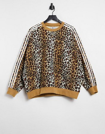 adidas Originals 'Leopard Luxe' oversized sweatshirt   ASOS