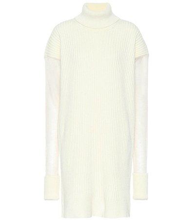 Wool-blend sweater dress