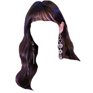Dark Brown Hair Bangs PNG