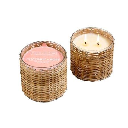 Field + Fleur Coconut Rose Candles
