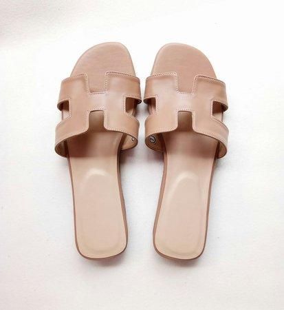 hermes slipper beige - Google Search