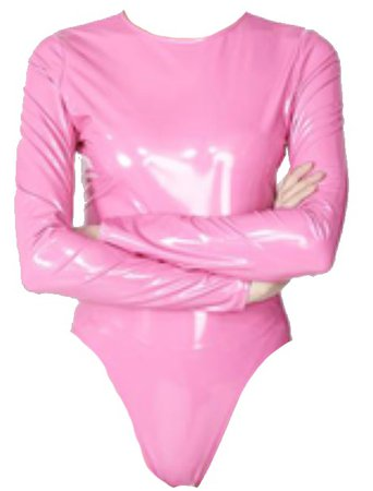 Vinyl Side Zip Tank Bodysuit