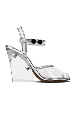 Plexiglass Wedge Sandal