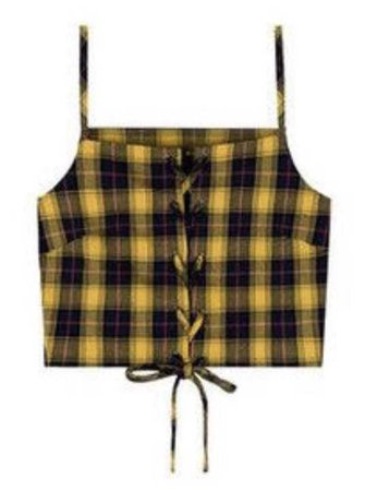Yellow Tartan Top