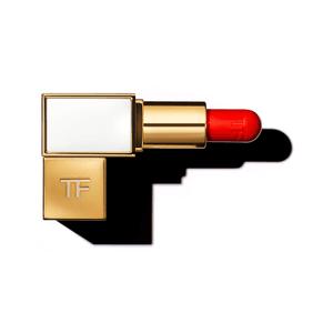 red orange lipstick