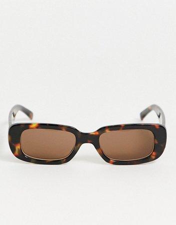 AJ Morgan square sunglasses in tort | ASOS