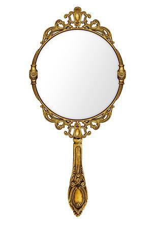 Beautiful Vintage Isolated Hand Mirror Stock Photo, Picture And Royalty Free Image. Image 17889791.
