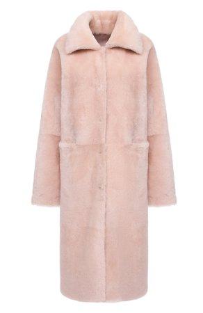 Женская розовая двусторонняя дубленка TEGIN — купить за 151000 руб. в интернет-магазине ЦУМ, арт. TG4344