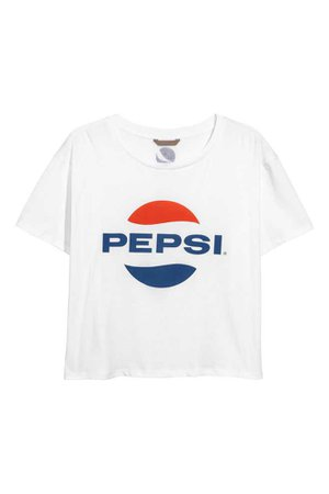 H&M+ T-shirt - Blanc/Pepsi - FEMME | H&M FR
