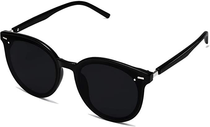 SOJOS Classic Round Retro Plastic Frame Vintage Inspired Sunglasses BLOSSOM