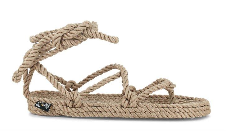 Nomadic State of Mind Romano Wrap Sandals Beige