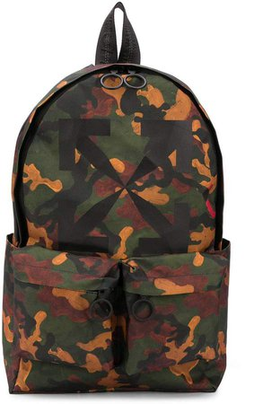 Off White camouflage-print backpack