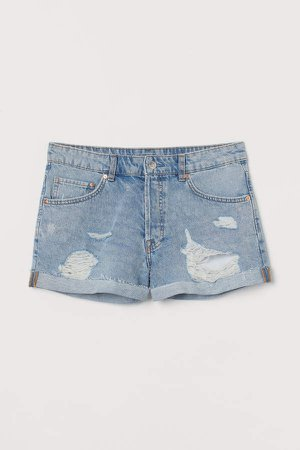 Denim Shorts Boyfriend - Blue