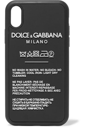 Dolce & Gabbana | Printed silicone iPhone XR case | NET-A-PORTER.COM