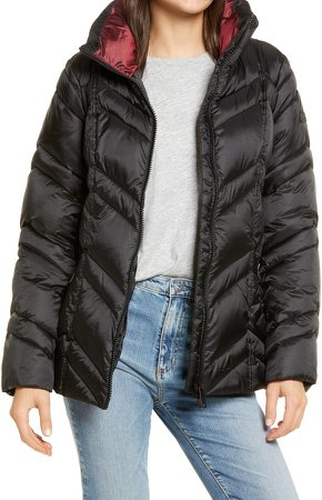 Chevron Quilted Puffer Jacket