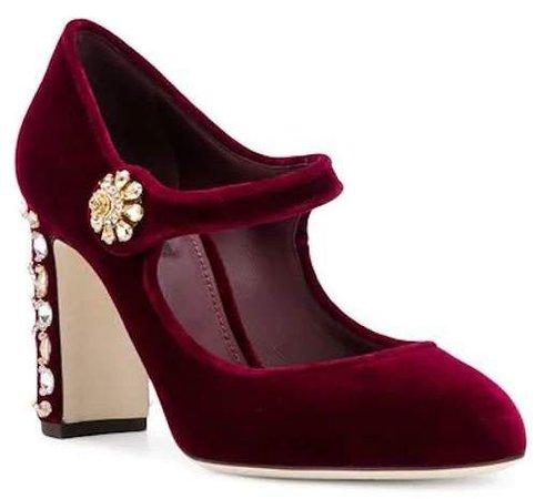 Ladies High Heel Pump in Burgundy Gem