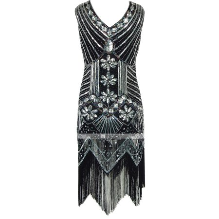The Great Gatsby Charleston Vintage 1920s Flapper Dress Cocktail Dress Ball Gown Women's Sequins Tassel Sequin Costume Black / Golden / Golden+Black Vintage Cosplay Party Homecoming Prom Sleeveless 6419856 2020 – R$181,45